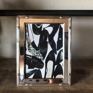 5x7 Shoe Art Mirrored Frame Stand black and white